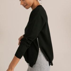 Modern Citizen Black Yara Side Zip Sweater